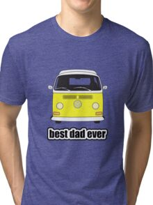 Best Dad Ever Yellow Early Bay Tri-blend T-Shirt