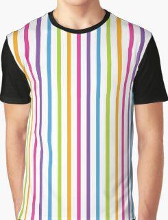 Bright Hue Stripe Pattern Graphic T-Shirt