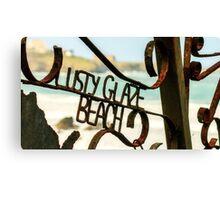 Lusty Glaze Beach,North Cornwall Canvas Print