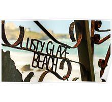 Lusty Glaze Beach,North Cornwall Poster