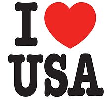 I Love USA - United State by SKpixel