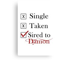 Sired To Damon Salvatore. TVD TShirt Canvas Print