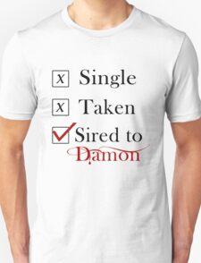 Sired To Damon Salvatore. TVD TShirt T-Shirt