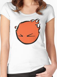 Flaming Smile Women's Fitted Scoop T-Shirt