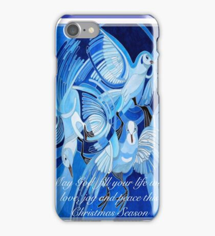 Love, Joy and Peace This Christmas Season Greeting iPhone Case/Skin
