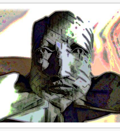 The Cynic -  Peering Stone Bust Figure Sticker