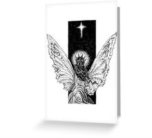 Angel and Star Greeting Card