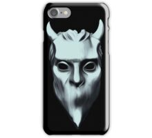 NAMELESS GHOUL - silver oil paint iPhone Case/Skin