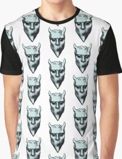 NAMELESS GHOUL - silver oil paint Graphic T-Shirt