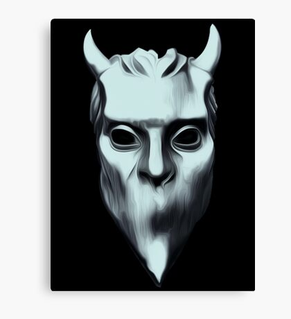 NAMELESS GHOUL - silver oil paint Canvas Print