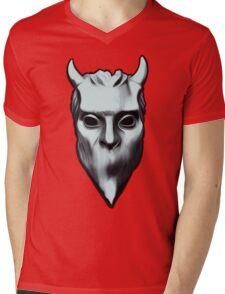 NAMELESS GHOUL - silver oil paint Mens V-Neck T-Shirt