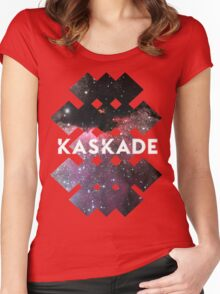 Kaskade Galaxy Black Women's Fitted Scoop T-Shirt