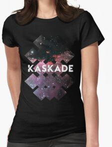 Kaskade Galaxy Black Womens Fitted T-Shirt