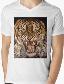 Brawler-Tiger With Issues Mens V-Neck T-Shirt