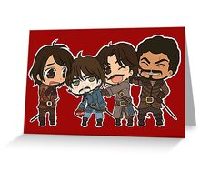 The Mini Musketeers  Greeting Card