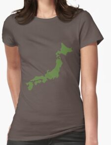 Japan map  Womens Fitted T-Shirt