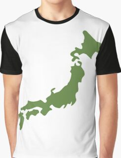 Japan map  Graphic T-Shirt