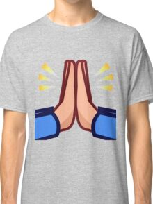 Praying hands emoji Classic T-Shirt