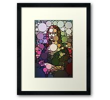 Bubble Art Mona Lisa Framed Print