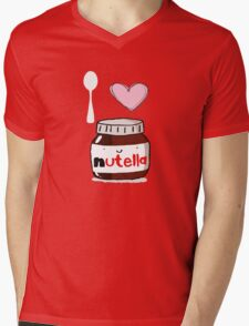i love nutella Mens V-Neck T-Shirt