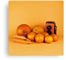 Orange carrots still life Canvas Print