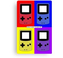 Gameboy Color - What Color is Yours? (Background) Canvas Print