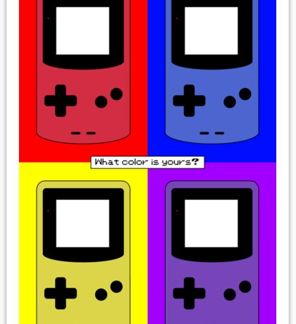 Gameboy Color - What Color is Yours? (Background) Sticker
