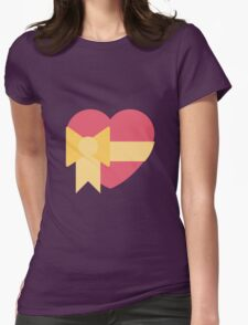 Pink heart with ribbon emoji Womens Fitted T-Shirt