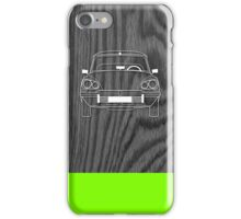 Citroen DS Outline Drawing on Black Oak iPhone Case/Skin