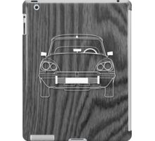 Citroen DS Outline Drawing on Black Oak iPad Case/Skin