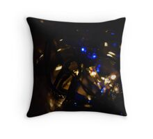 Blue And white Fairy Lights Throw Pillow