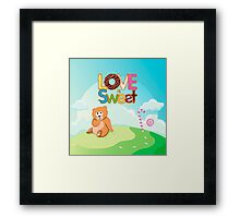 Love is Sweet Framed Print