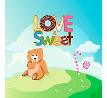 Love is Sweet Photographic Print