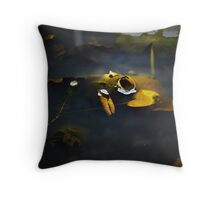 Closed Up Lily Pad Throw Pillow