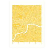 London map yellow Art Print