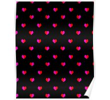 Hearts valentines day gift red black cute girly gender neutral hipster minimal graphic  Poster
