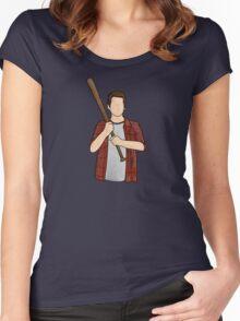 Stiles Stilinski / Dylan O'Brien / Teen Wolf / Baseball Bat Women's Fitted Scoop T-Shirt