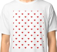 Heart white and red minimal valentines day gift for her cell phone case hearts Classic T-Shirt