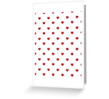 Heart white and red minimal valentines day gift for her cell phone case hearts Greeting Card