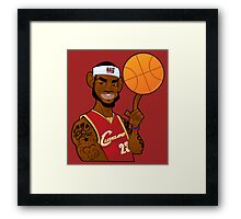 lebron james clevland Framed Print