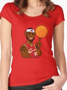 lebron james clevland Women's Fitted Scoop T-Shirt