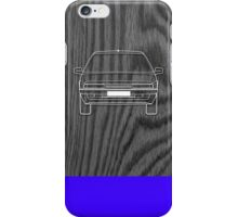 Citroen XM Outline Drawing on Black Oak iPhone Case/Skin