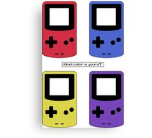 Gameboy Color - What Color is Yours?  (no background) Canvas Print