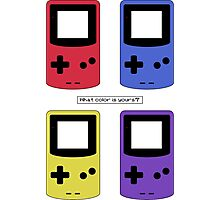 Gameboy Color - What Color is Yours?  (no background) Photographic Print