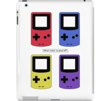 Gameboy Color - What Color is Yours?  (no background) iPad Case/Skin