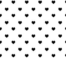 Valentines day black and white heart cute minimal modern hipster bklyn nashville austin socal by charlottewinter
