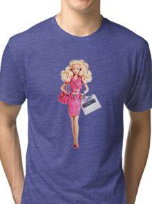 barbie pink Tri-blend T-Shirt