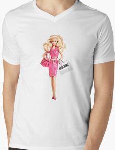 barbie pink Mens V-Neck T-Shirt