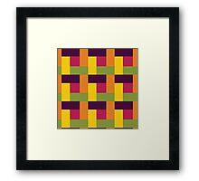 Fruit Tree Block Pattern Framed Print