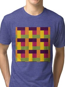 Fruit Tree Block Pattern Tri-blend T-Shirt